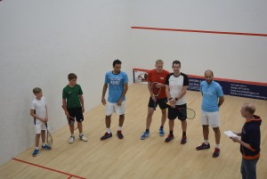 Ollie & Ed with some other squash players