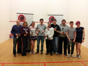 Pete Madsen (Middle in grey) Over 40s' South West Champion 2014