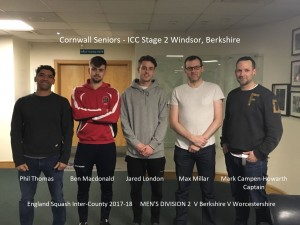 Cornwall Seniors Stage 2 2017-18 Windsor